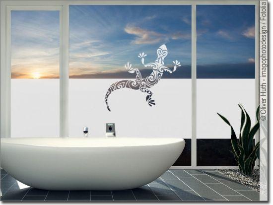 Milchglasfolie Echse Sichtschutzfolie Fensterfolie Folie