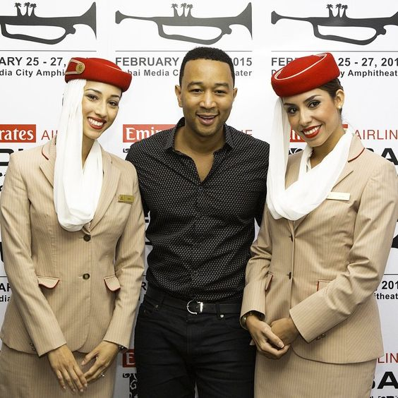 John Legend brought down the curtain on a successful Emirates Airline Dubai Jazz Festival. #hellotomorrow #emiratesairline #music #instamusic #mydubai #dubai #dubaijazzfest #emiratescabincrew #crewlife