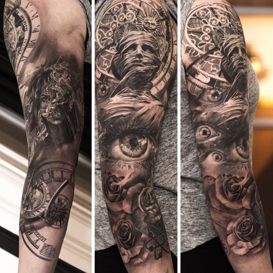 So sick sleeve tattoos pinterest for Sick tattoo sleeves