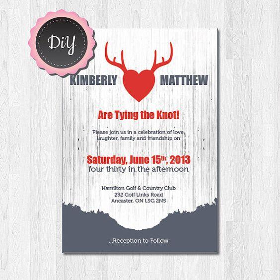 DIY  Printable 'Hello Deer' Wedding Invitation by JoliePapeterie, $45.00