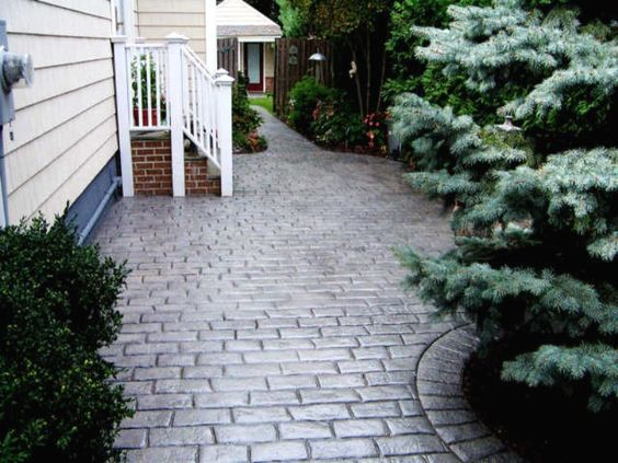 Stamped Concrete Patios ~ like how clean this looks! love it!