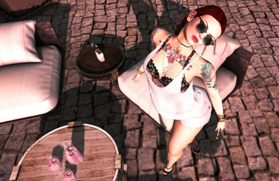 """ Do not tell anyone anything and be happy !!!""  :: B O D Y :: Hair – little bones. Jessa – The Redhead Tatto – {T'Ink} Mandaloony  AnyBODY  :: C L O T H I N G :: Top – Tee*fy Ana…"