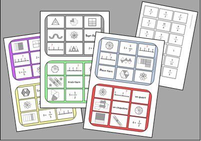 Jeu sur les fractions maths r visions pinterest - Table de multiplication course de chevaux ...