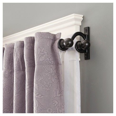 double rod curtains double curtains