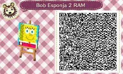 Este es un QR Code para Animal Crossing, creado por mí; como podéis observar, es un suelo, pared... (lo que deseéis) de Bob Esponja. [2-10]  Lo podéis encontrar en mi canal de YouTube: https://www.youtube.com/channel/UCh6uwa2CjSgR4WQ-ghRQY6Q (Roxy).  ¡Espero qué os guste! ;)