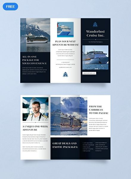 Free Cruise Travel Brochure With Images Travel Brochure Design Travel Brochure Travel Brochure Template
