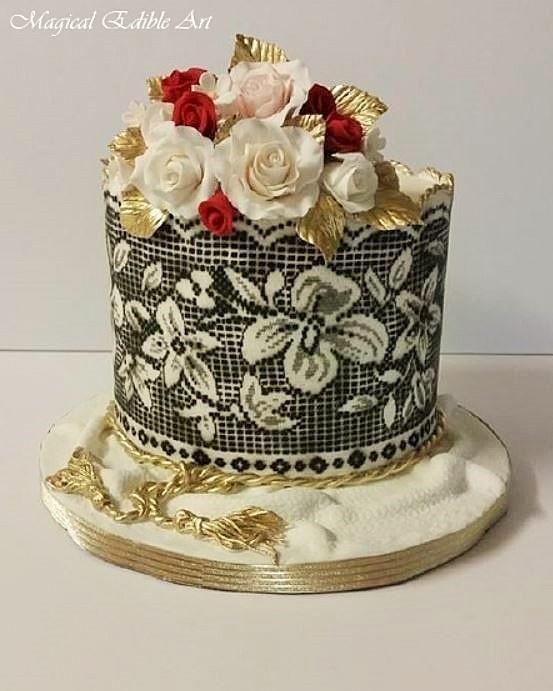 Black and white cake - Cake by Nadia