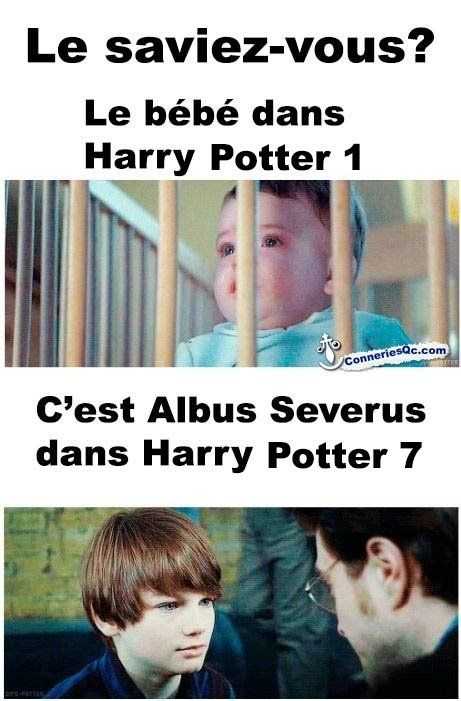 Do you know that the baby who was little Harry in HP 1 then was Albus Severus in HP 7?
