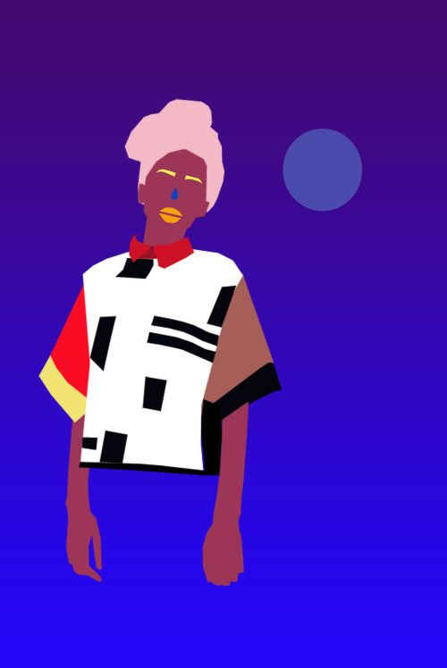 #illustration #visualart #art #artwork #graphicdesign #surreal #gradient #wundermann #colors #contemporary #moon #girl