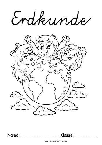 Deckblatt Erdkunde Weltkugel Erdkunde Deckblatt Erdkunde Deckblatt Schule