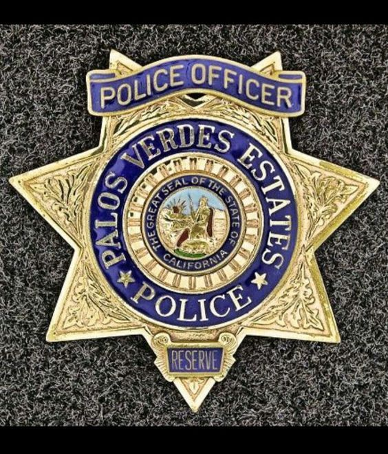 City Of Palos Verde Estates Police Department Us State Of California Police Badge Fire Badge Police