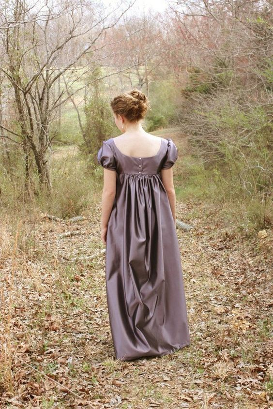 I love the color of this one!! I'm not big into regency dresses, but I would love to wear this one!!!: