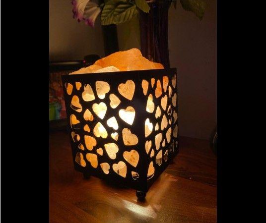 Himalayan Glow Heart Basket Night Light In 2020 Lamp Pink Himalayan Salt Lamp Salt Crystal Lamps