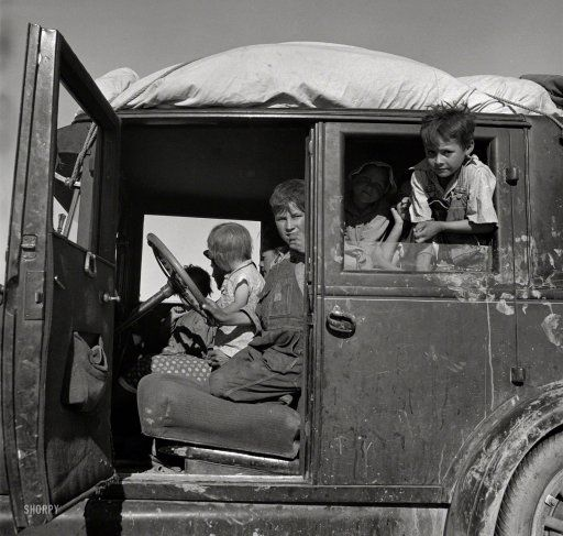 Migrant Moppets: 1937 - photo by Dorothea Lange for the Farm Security Administration