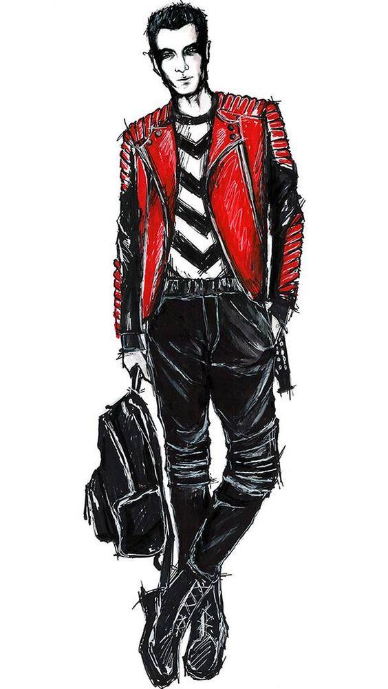Olivier Rousteing Balmain Sketch