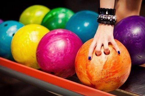 rainbow bowling balls