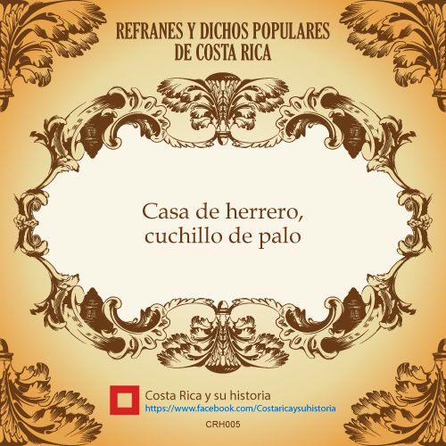 Refranes Y Dichos Populares Crh005 Http Www Pinterest Com Crhistoria Refranes Y Dichos Populares De Costa Rica How To Speak Spanish Words Place Card Holders
