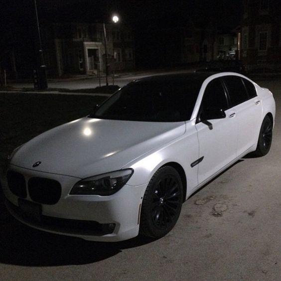 @OVOJonnyRoxx's Satin White #BMW 750 wrapped by @wrapimpressions • Follow @ovojonnyroxx