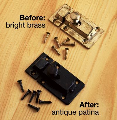 How to turn brass into patina awesomeness.