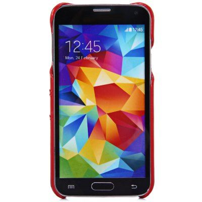 $4.13 (Buy here: http://appdeal.ru/acza ) Practical Card Holder Design PU Material Back Cover Case for Samsung Galaxy S5 i9600 SM - G900 for just $4.13