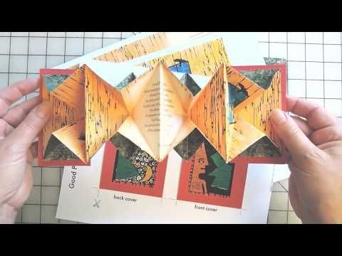 an Altered Accordion Pattern and Step by Step Tutorial How to Make the Pop-up Book Boxes