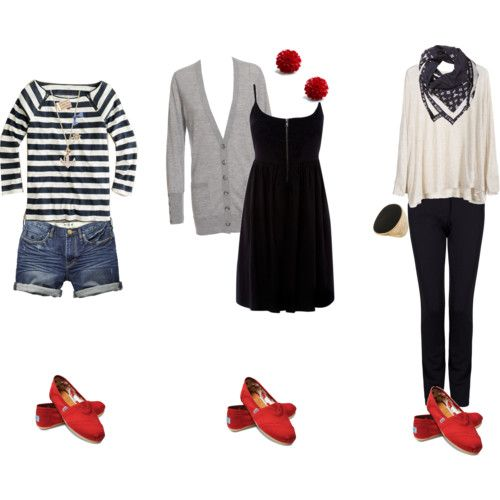-love my red toms but can never put an outfit together with them..