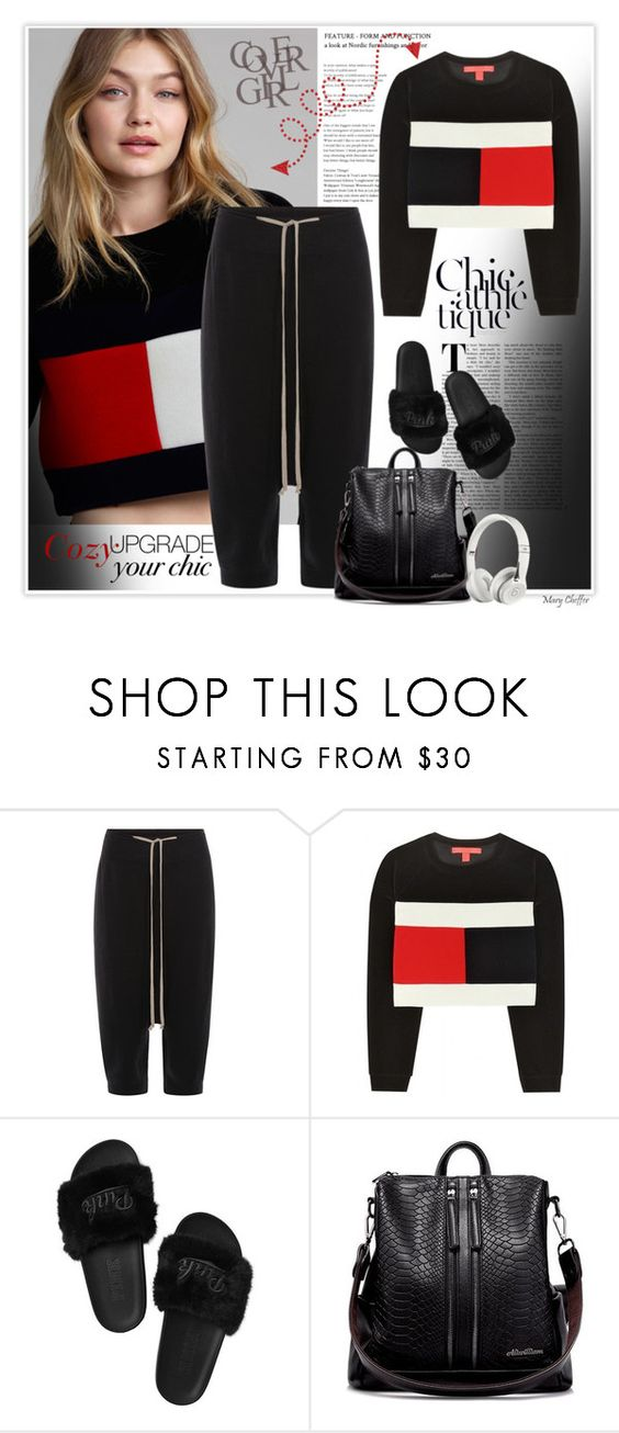 """""""Holiday Style: Cozy Chic"""" by mcheffer ❤ liked on Polyvore featuring Rick Owens, Tommy Hilfiger, Beats by Dr. Dre and cozychic"""