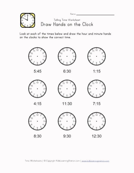 Time Worksheets : telling time worksheets blank Telling Time ...