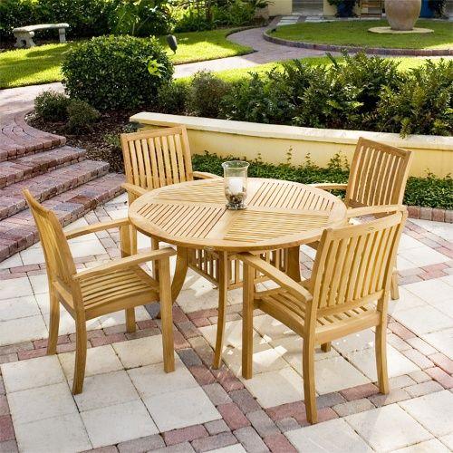 5 Pc Grand Hyatt Teak Dining Set Outdoor Furniture Style Teak Outdoor Furniture Outdoor Patio Decor