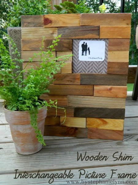 Wooden Shim Interchangeable Picture Frame