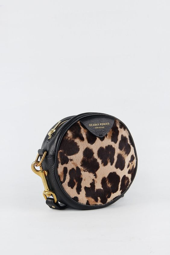Deadly Ponies Mr Pom Pom Cheetah - black #deadlyponies #bags #womensfashion #womensstyle #handbags #totes #wallets #scarves #accessories #goskey