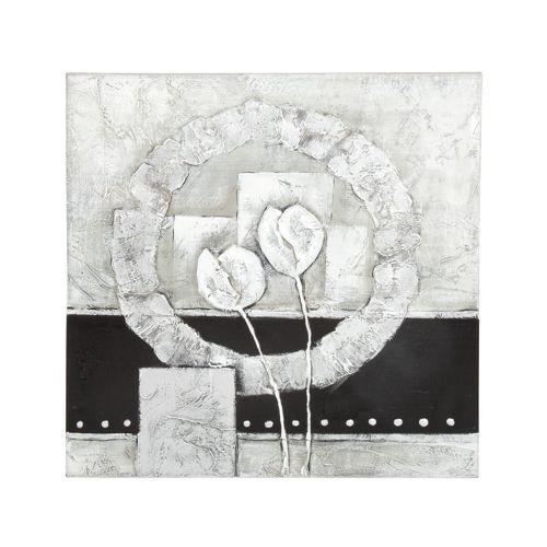 Toile imprimée - Grey Flower