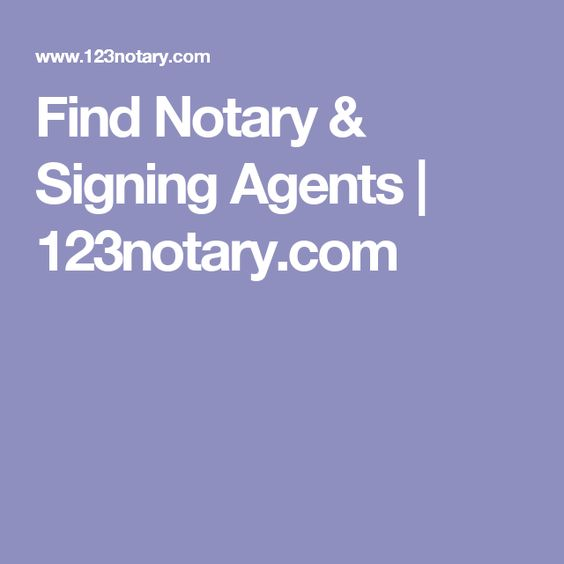 Find Notary & Signing Agents | 123notary.com