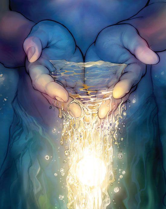 Hände / Wasser: