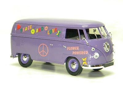 new 1966 volkswagen combi tole vw hippy van solido 1 18 scale diecast model vintage toys. Black Bedroom Furniture Sets. Home Design Ideas