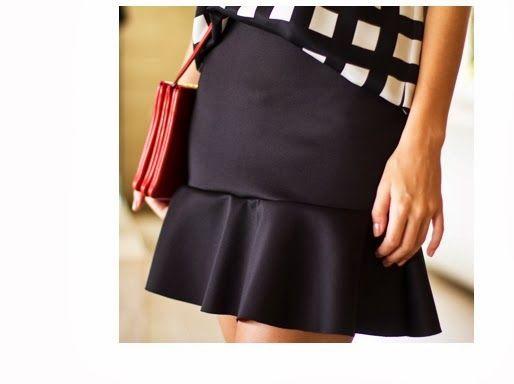 Miss Fashion: R$ 99,00 Saia godê preta