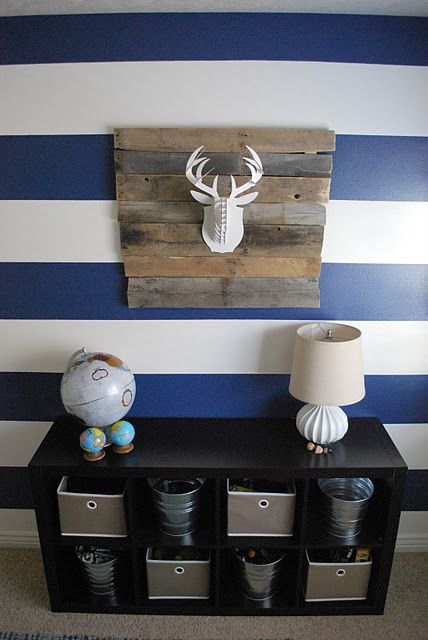 boys room - love the navy and white stripes