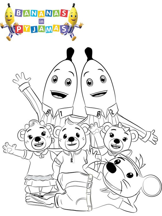 pigs in pajamas coloring pages - photo#30