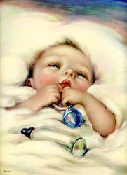 Vintage baby prints