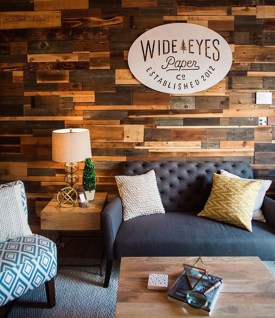 """@wideeyespaperco's office has all of the charm and comfort of home! Check out the full tour of this rustic creative space on our blog today—link in…"""