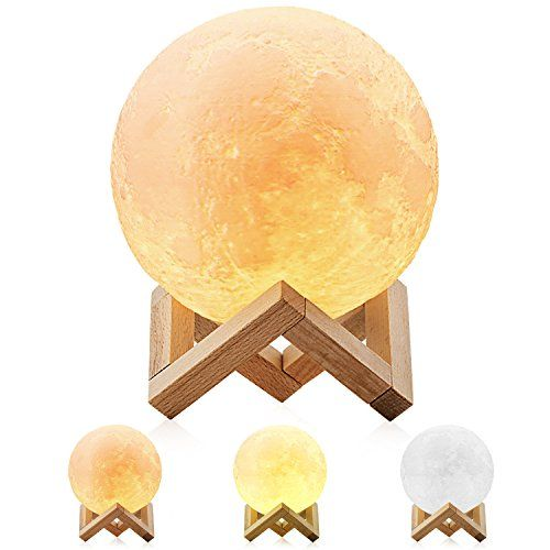 Moon Lamp Magicfly 3d Printing Moon Light Dimmable With Https Www Amazon Com Dp B077hpfgmj Ref Decorative Night Lights Color Changing Lights Touch Lamp