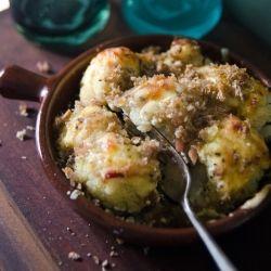 An easy cauliflower dish with a creamy and tasty crunch #foodgawker