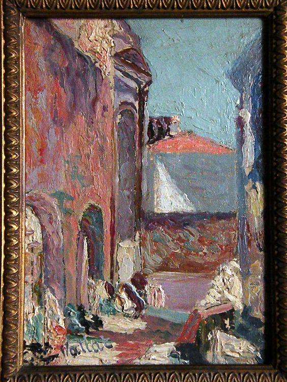 Gabrielle Vallat -vue du théatre d'antique d'oran-1889-1943