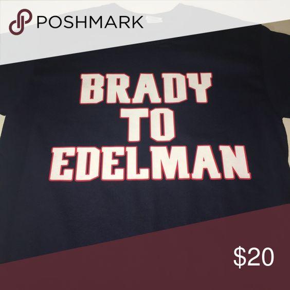 New England Patriots Brady To Edelman Shirt Nwt Edelman Long Sleeve Shirts New England Patriots