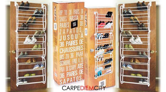Sapatos Desarrumados?! Sapateira de Porta para 36 Pares de Sapatos por apenas 29,90€!  http://www.carpediemcity.com/deals/sapatos-desarrumados-sapateira-de-porta-para-36-pares-de-sapatos-produto-nacional