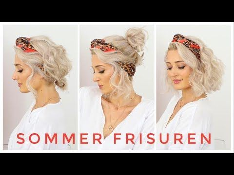 Sommer Frisuren Mit Einem Tuch Tragen Olesjaswelt Youtube Sommerfrisuren Styling Kurzes Haar Frisuren