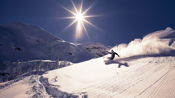 Skiing Sun Slope
