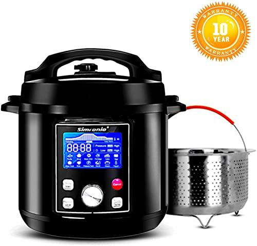 New Simfonio Electric Pressure Cooker 6qt Simpot 10 In 1 Steamer Pot Rice Cooker Slow Cooker E Pressure Cooker Cookbook Electric Pressure Cooker Yogurt Maker