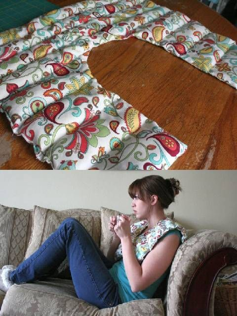 Rice Shoulder Heating Pad, with Lavender Project » The Homestead Survival
