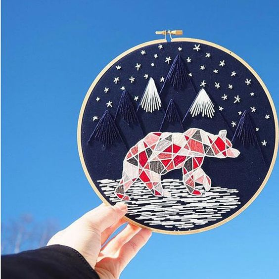 Alexsembroidery - broderie moderne - embroidery